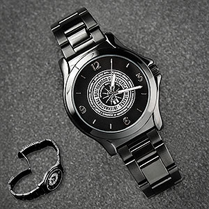 Black Logo Watch