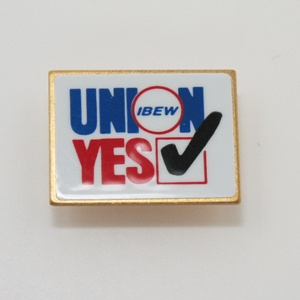 Union Yes Lapel Pin