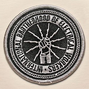 Black and Silver Logo Patch, 3