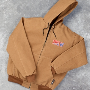 Brown Thermal Lined Hooded Jacket