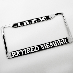 IBEW Retired Auto Tag Frame
