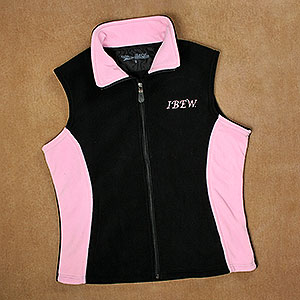 Ladies Two Tone Fleece Vest