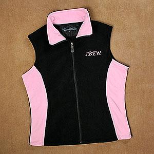 Ladies Two Tone Fleece Vest