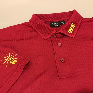 ** NEW ** Maroon Moisture Management Polo Shirt