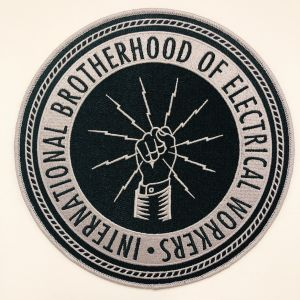 ** NEW ** Black and Silver Logo Patch 7 3/4""